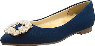 [menue] 珍珠调色 带宝石 松软ver. 皮鞋垫 低跟鞋 尖头 平跟 浅口鞋 1101702p4084022 女式