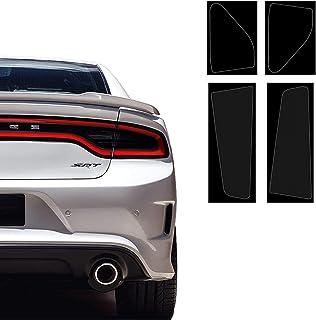 XiaoKa 尾灯贴膜套件兼容并适合 Dodge Charger 2015-2021,精确切割暗烟乙烯基覆盖物,有色干用贴膜(暗烟色)