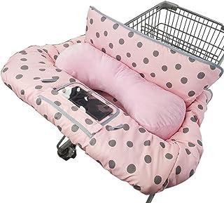 购物车罩适合婴儿/幼儿,带枕头,舒适高脚椅套,粉色