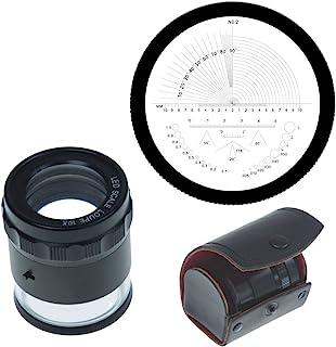 iGaging 36-LED10 站立式测量放大镜,放大镜 X10,带刻度LED点亮
