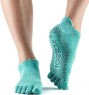 ToeSox 女式低腰全头抓地防滑芭蕾舞鞋,瑜伽,普拉提鞋,船头袜