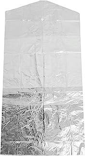 100 件装服装袋,透明西装袋,衣服防尘罩,礼服和连衣裙防尘防水收纳袋 (60120)