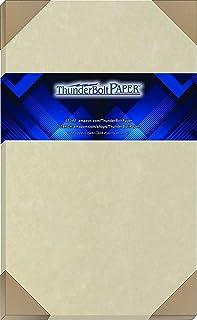 100 张天然羊皮纸 65 磅封面纸 8.5 x 14 英寸(约 21.6 x 35.6 厘米)卡片纸 重量彩色纸 8.5 x 14 英寸(约 21.6 x 35.6 厘米)法律 | 菜单尺寸 - 可打印的旧羊皮纸
