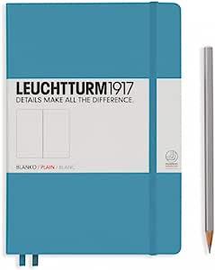LEUCHTTURM1917 灯塔中开无格笔记本北欧蓝硬封皮(A5)