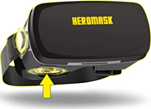 VR 耳机 - 虚拟现实游戏 - 3D 眼镜 - 兼容 iPhone 11 PRO XR...三星 Galaxy s10 Plus 小米 mi 9...苹果和安卓手机 - 带按钮的专业 VR 护目镜 - Heromask PRO