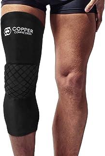 铜压缩护膝**高铜垫护膝适用于运动、篮球、排球、工作。腿部压缩袖带护膝,适合男士和女士。