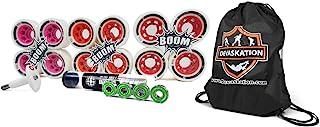 ATOM 8pk Boom 59x38mm 或 62x44mm Roller Derby 和 Speed Skate Quad Wheels with ABEC 7-8mm 轴承和骨头轴承拉拔器/压碎抽绳袋 4 件装 (62x44mm-Xfirm)