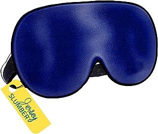 Jersey Slumber * 真丝*眼罩,整夜* | 舒适超软眼罩带可调节带子 | 适用于每个午睡姿势 | 终极*辅助/眼罩,阻挡光线