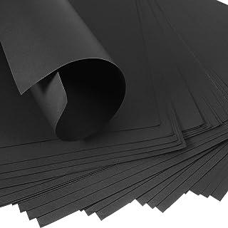 45 件黑色牛皮纸纸黑色包装纸 27.94 x 21.5 厘米可回收黑色牛皮纸结构和包装纸公告纸包装工艺品 墙壁艺术用品