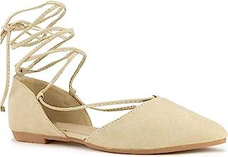 房间 OF 时尚新款踝带尖头 d'orsay 时尚平底鞋