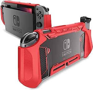Mumba 可托放 Nintendo Switch 手机壳 TPU Grip 保护套 兼容 Nintendo Switch 游戏机和 Joy-Con 控制器MBA-Nintendo-Switch-Blade-Green