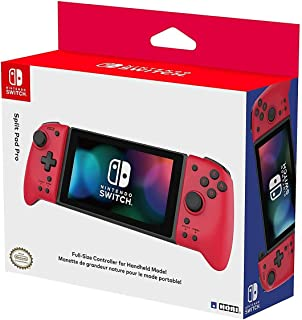 Hori Nintendo Switch Split Pad Pro(红色)人体工程学控制器,适用于手持模式 - Nintendo 任天堂官方* - Nintendo Switch