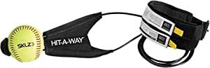 SKLZ 棒球和垒球 Hit-A-Way 挥杆训练器 - 提高您的击力、骑行时间、自信、开发挥杆机械师、模拟真实投球、享受数小时挥杆训练