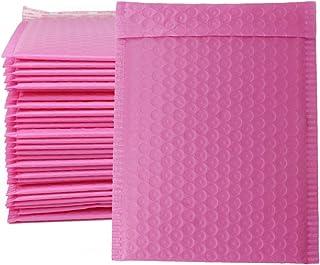 ZMYBCPACK 100 件 15.24 x 25.40 厘米聚乙烯气泡信封袋(粉色)