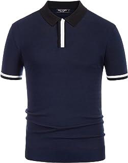 PJ PAUL JONES 男式撞色短袖 Polo 毛衣休闲修身毛衣