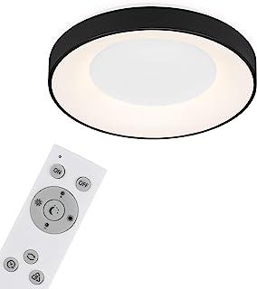 Briloner Leuchten - LED 吸顶灯,可调光吸顶灯,包括遥控器,色温控制,包括夜灯,定时器功能,36 W,3600 流明,白色/黑色,Ø 48.4 厘米,3427-015