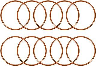 uxcell 硅胶 O 形环,外径53毫米,内径48.2毫米,宽2.4毫米,VMQ密封圈密封垫圈红色,10件