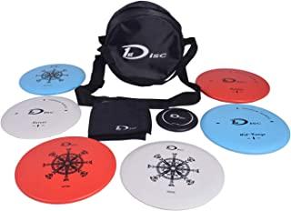 飞盘高尔夫入门套装 - 2 件推杆,2 件中程,2 件驱动器,1 个迷你飞盘,1 条带袋的毛巾