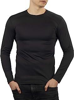 281Z 男式保暖轻型打底层 - 长袖 T 恤 - 户外远足 - Polartec 电力网 - 地形可靠线