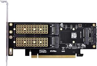 xiwai PCI Express PCI-E 3.0 & Dual SATA to NGFF NVME MSATA M-Key B/M-Key SSD 卡适配器 3 合 1