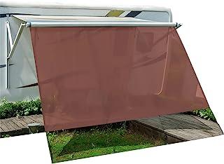 Dulepax RV 遮阳篷 10'X16'3'' ● Comper 遮阳篷使用棕色刀涂层网眼屏幕带完整配件 ● RV 遮阳篷屏幕阻挡约 86% 的紫外线 ● 3 年保修