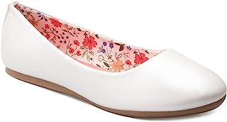 OLIVIA K 女童经典芭蕾平底鞋 - 可爱的圆形鞋头 - 易穿脱舒适