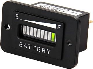 Jayron 大号 LED 显示屏铅酸电池指示灯适用于直流供电设备,如叉车、高尔夫球车、地板护理设备(12/24V)