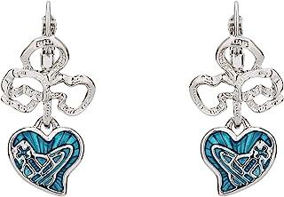 Vivienne Westwood 蓝色玫瑰花耳环 带特殊包装盒和纸袋