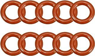 uxcell 硅胶 O 形圈,外径17毫米,内径10毫米,宽3.5毫米,VMQ密封圈密封垫圈红色,10件