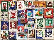 White Mountain 拼图 1262 圣诞印章,1000 块装儿童*拼图