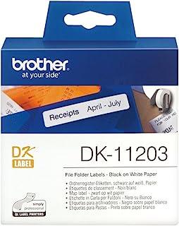 Brother 兄弟 DK11209 小地址标签 300 Etiketten 17 x 87 mm 黑色/白色