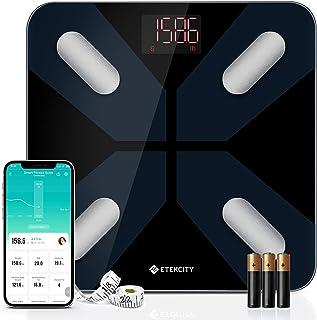 Etekcity 数字浴室体重秤,智能身体* BMI 体重秤,适用于人体*监测仪,13 种关键健身成分,400 磅