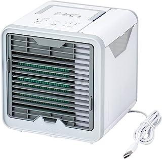Shop Japan KOKIHIE R3 2021年 改良风扇 冷风扇 台式风扇 迷你冷却器 防霉过滤器 176×189×173毫米 CCHR3AM1 白色