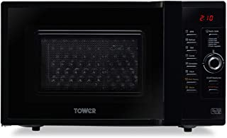 Tower KOC9C0TBKT 双加热器组合烤箱带微波炉/烧烤/对流烤箱功能,自清洁900瓦,28升,黑色
