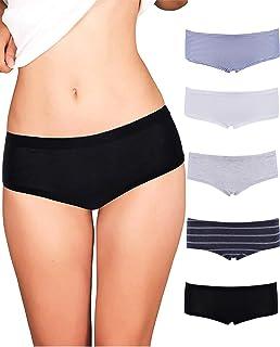 Emprella 女式平角裤 | 5 件装 | 舒适超柔软 | 棉质内裤