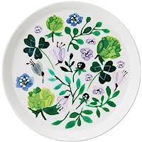 NARUMI 鸣海 餐盘 盘子 Anna Emilia系列 三叶草花园 绿色 16cm 微波炉&洗碗机可用 51854…
