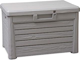 户外花园箱,带120升存储空间,可锁露台箱,尺寸 S,塑料,73 x 50.5 x 46.5 厘米