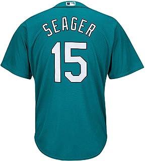 Outerstuff Kyle Seager 西雅图水手队 #15 青色青年酷底座备用球衣
