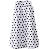 HALO背心式超细摇粒绒婴儿安全睡袋(秋冬厚款)黑白加号 M(6-12个月)