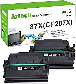 Aztech 兼容硒鼓替换件适用于 HP 87X CF287X 87A CF287A(黑色,2 件装)