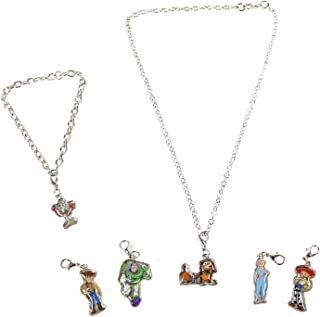 Toy Story 4 Add-a-Charm 珠宝套装,带项链、手链和 20.32 cm - 17.78 cm 吊坠