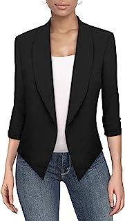 Auxo 女士长袖开衫前开襟轻便毛衣外套夹克