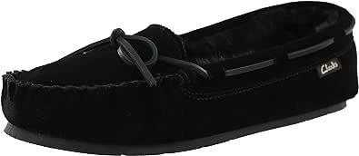 CLARKS Nancy Moccasin 女士冬季麂皮绒乐福鞋