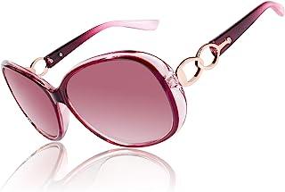 CGID 设计师超大太阳镜女式偏光 UV400 防护