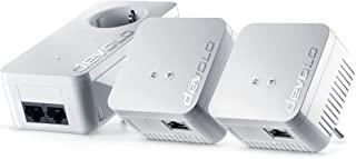 devolo dLAN 550 WiFi 网络套件电力线(通过插座的网络,WLAN,1 x LAN 端口,3 X Powerlan 适配器,PLC 网络适配器,WLAN Powerline,Wifi Move)白色