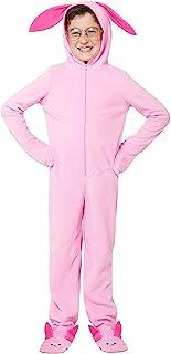 圣诞故事 Ralphie 粉色兔子配套家庭睡衣套装连体服连体服