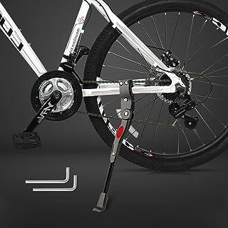 自行车支架可调节铝合金踢脚架成人自行车支架通用自行车侧后支架适用于 24-29 英寸山地自行车、公路自行车