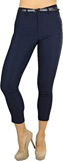 ToBeInStyle 女士带状孟加拉虎色及踝长裤