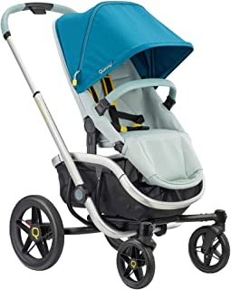 Quinny VNC 婴儿车,适合约 6 个月至约 3.5 岁(0-15 千克),时尚手推车,可单手折叠,非常灵活,灰色斜纹,灰色