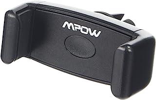适用于智能手机的 Mpow 360 度旋转优质 E-Clip 空气通风磁性车载支架 - 黑色